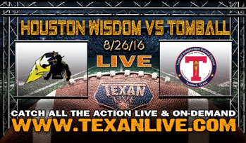 Wisdom vs Tomball Season Opening Football Game to be Streamed on TexanLive.com