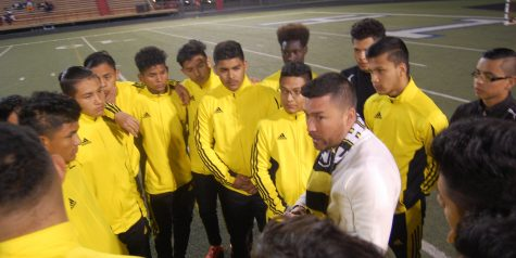Coach Andrade with high hopes for the boys soccer team
