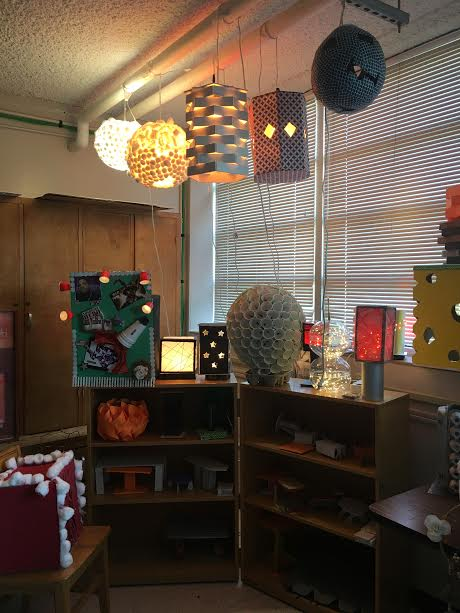 All+of+the+lamps+were+created+by+students.