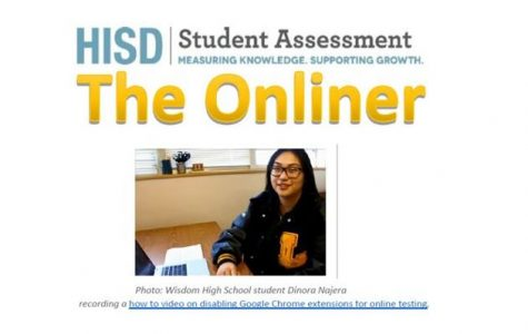 Wisdom Broadcast Media Students Lend Their Talent as Part of HISD E-Assessment Team