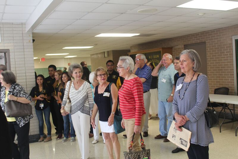 Members of the Robert E. Lee HS Class of 1966 recently returned to campus for a visit