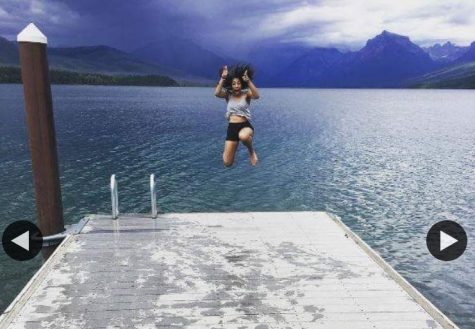 "The photo was taken at McDonald Lake in Glacier National Park this summer during their two-week backpacking trip. Pictured is a student ""Taking The Plunge"" into the ten mile long lake, that bottoms out over four hundred feet deep! Over 60 Houston ISD students decided to ""#SayYEStoAdventure"" this summer in Glacier National Park."