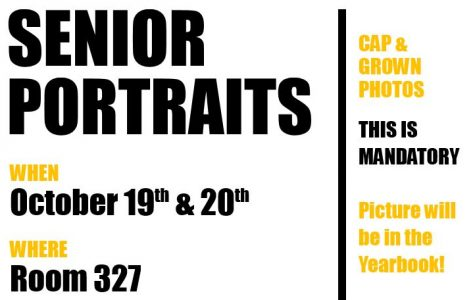 Senior Portraits & Yearbook Sale Scheduled for October 19-20