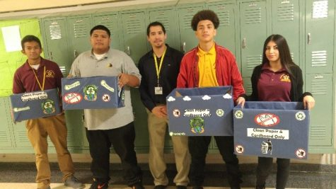 Mr. Navarro is Going Green with a New Student Recycling Project