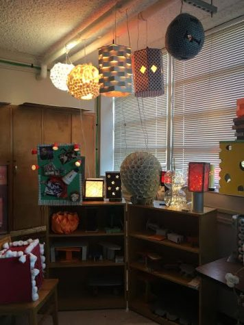All of the lamps were created by students.