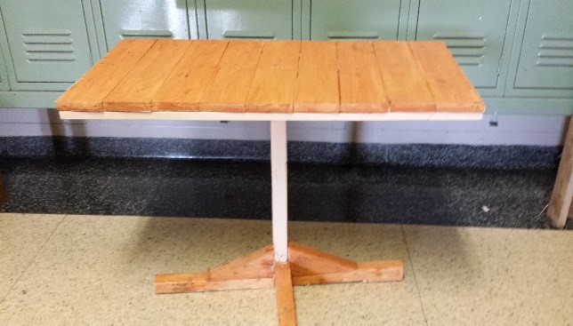 This beautiful table was made by: Edwin P Sac Chox