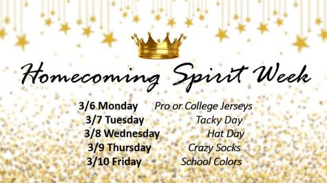 Spirit Week & Spring Homecoming: March 6-10