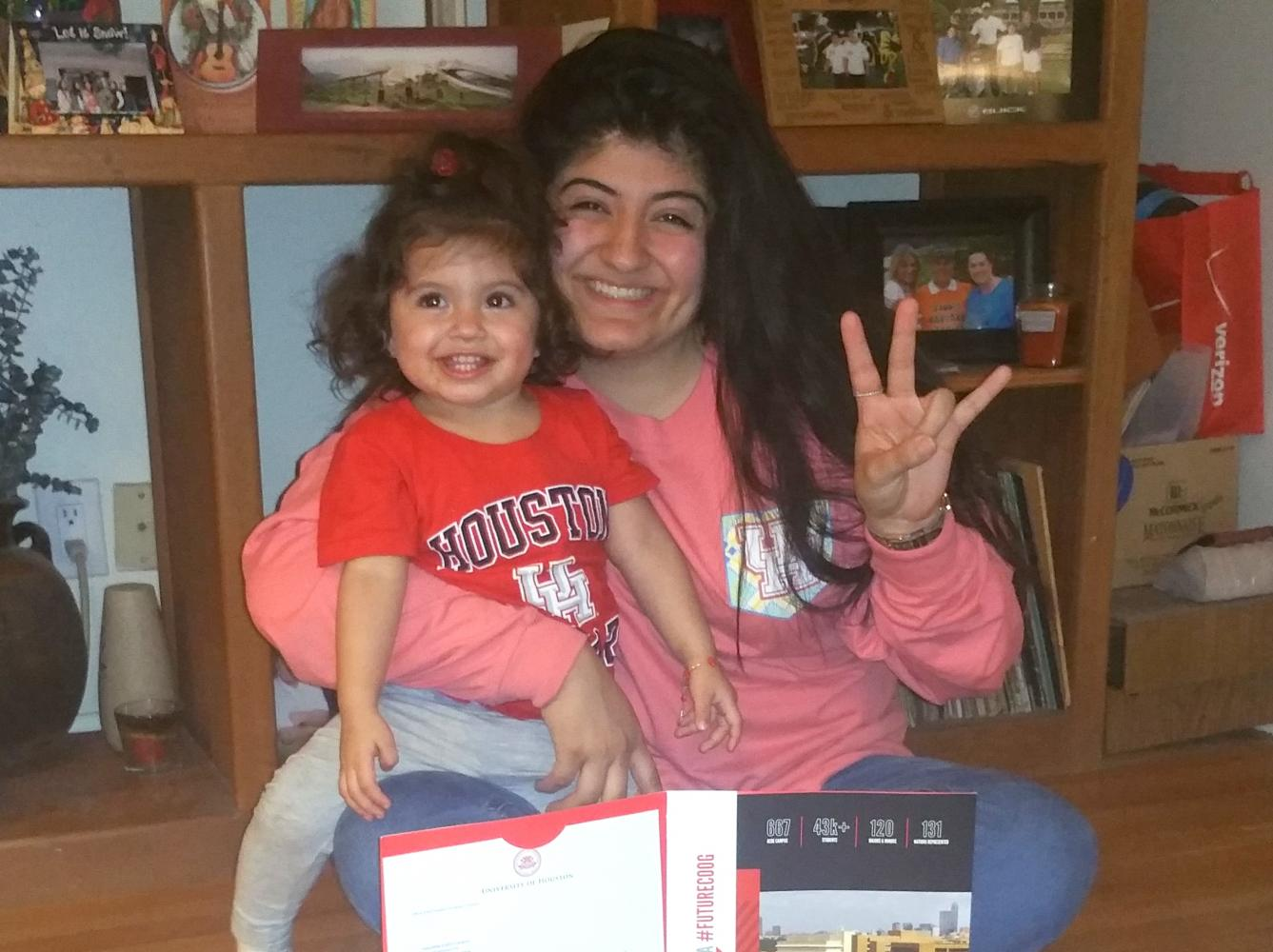Current Wisdom NHS President Samantha Campos and her daughter Miah