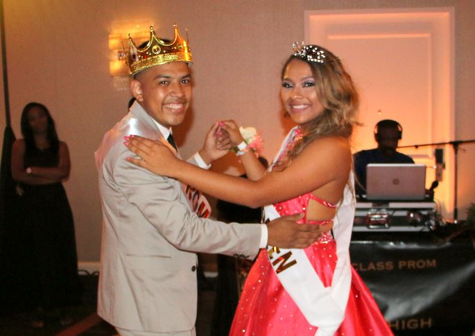 Prom King Doug Cruz & Queen Dayana Rodriguez