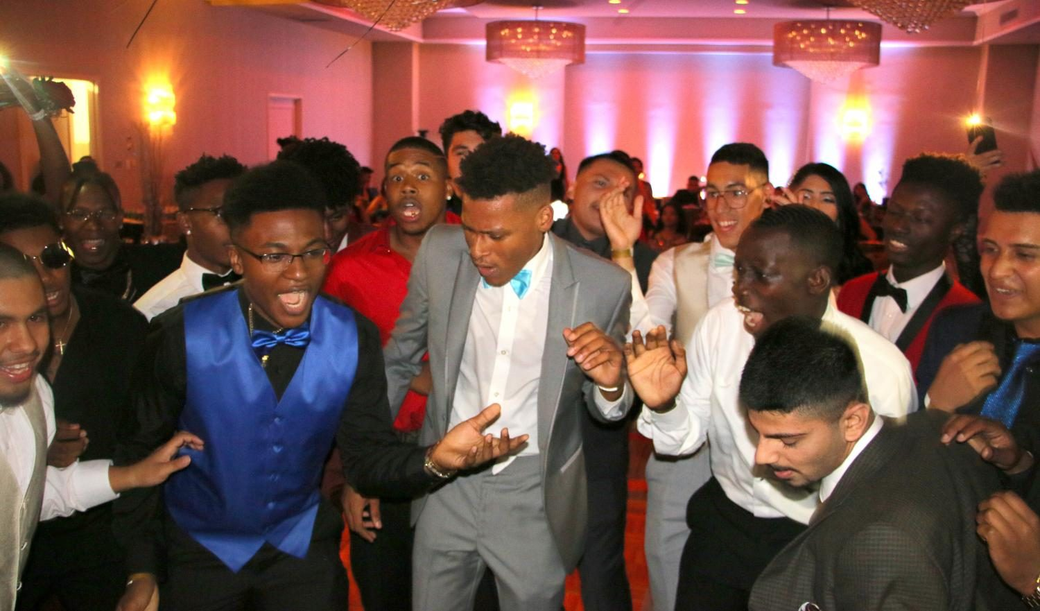 Seniors at the Prom, dancing the night away