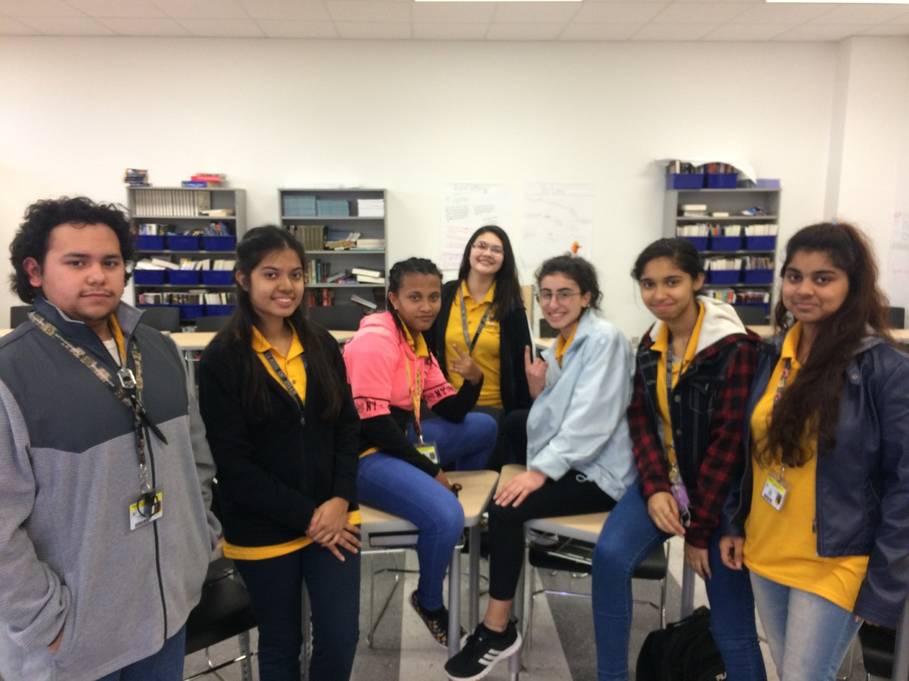 Some members of the Wisdom HS Interact Club, at their meeting on January 10, 2018