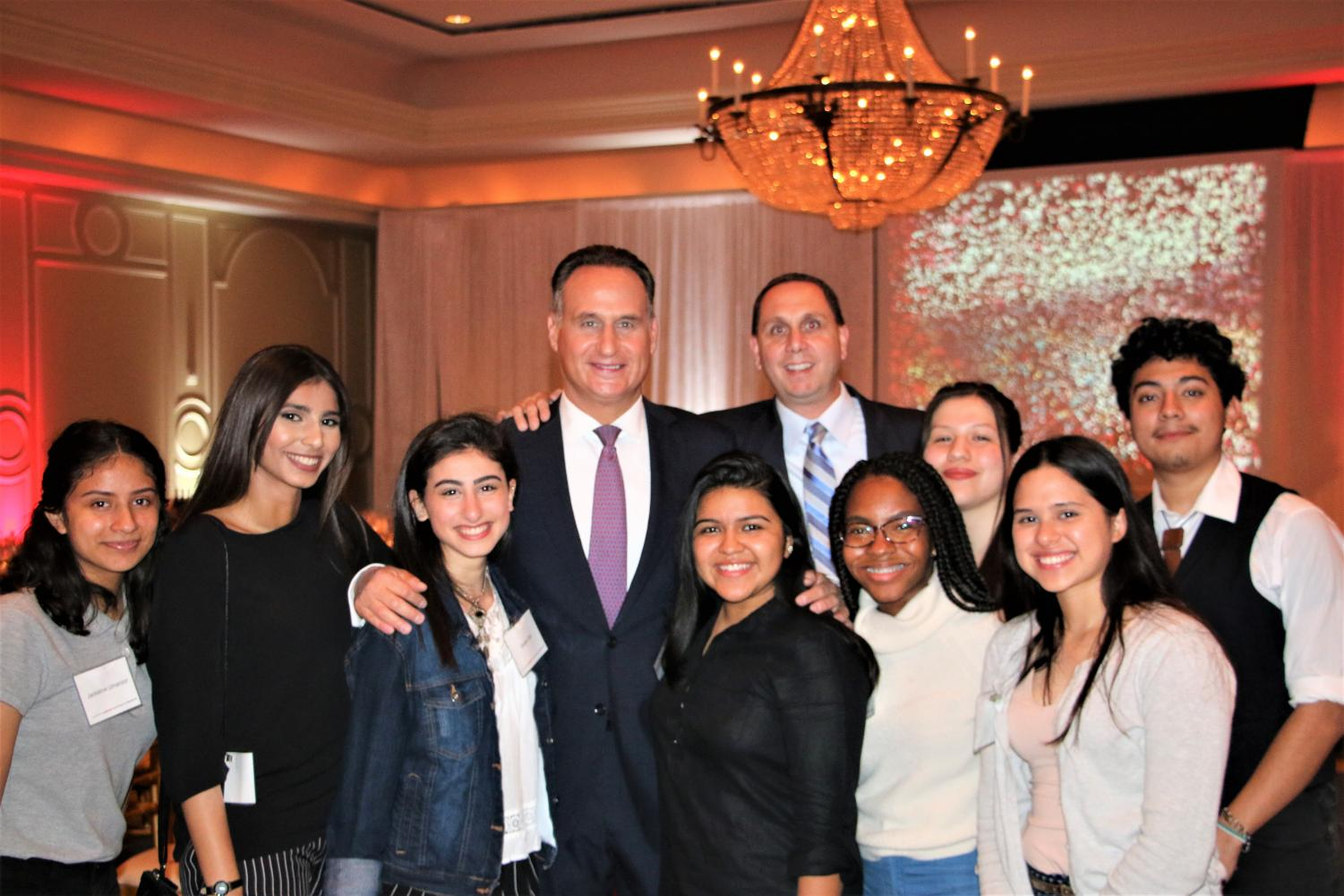 The Wisdom High School Journalism Team with NBC Nightly News & Telemundo Anchor Jose Diaz-Balart