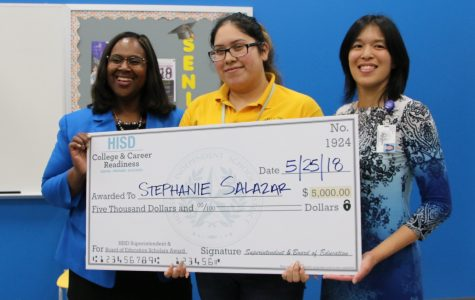 Houston ISD Awards Stephanie Salazar $5,000 Scholarship; Wisdom Class of 2018 Earns School Record $14.8 Million in Scholarship Money