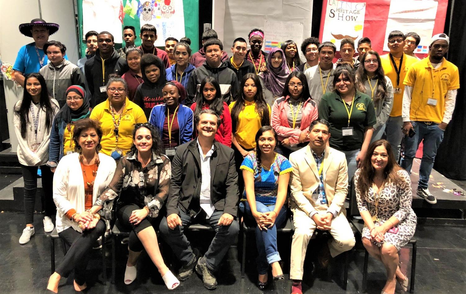 The Wisdom HS 5th Period Theater Production Class with guest speakers Ariel Lopez Padilla (Actor) and Brianda Franco Salazar; Thursday, Oct. 11, 2018