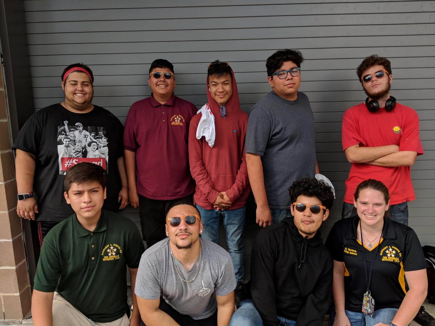 Members of the Wisdom HS Welding Team with Coach Brittney Morrison; Oct. 3, 2018