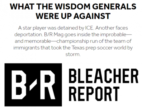 Bleacher Report Article Features Wisdom Generals' Run to 2018 UIL Texas Boys Soccer State Finals