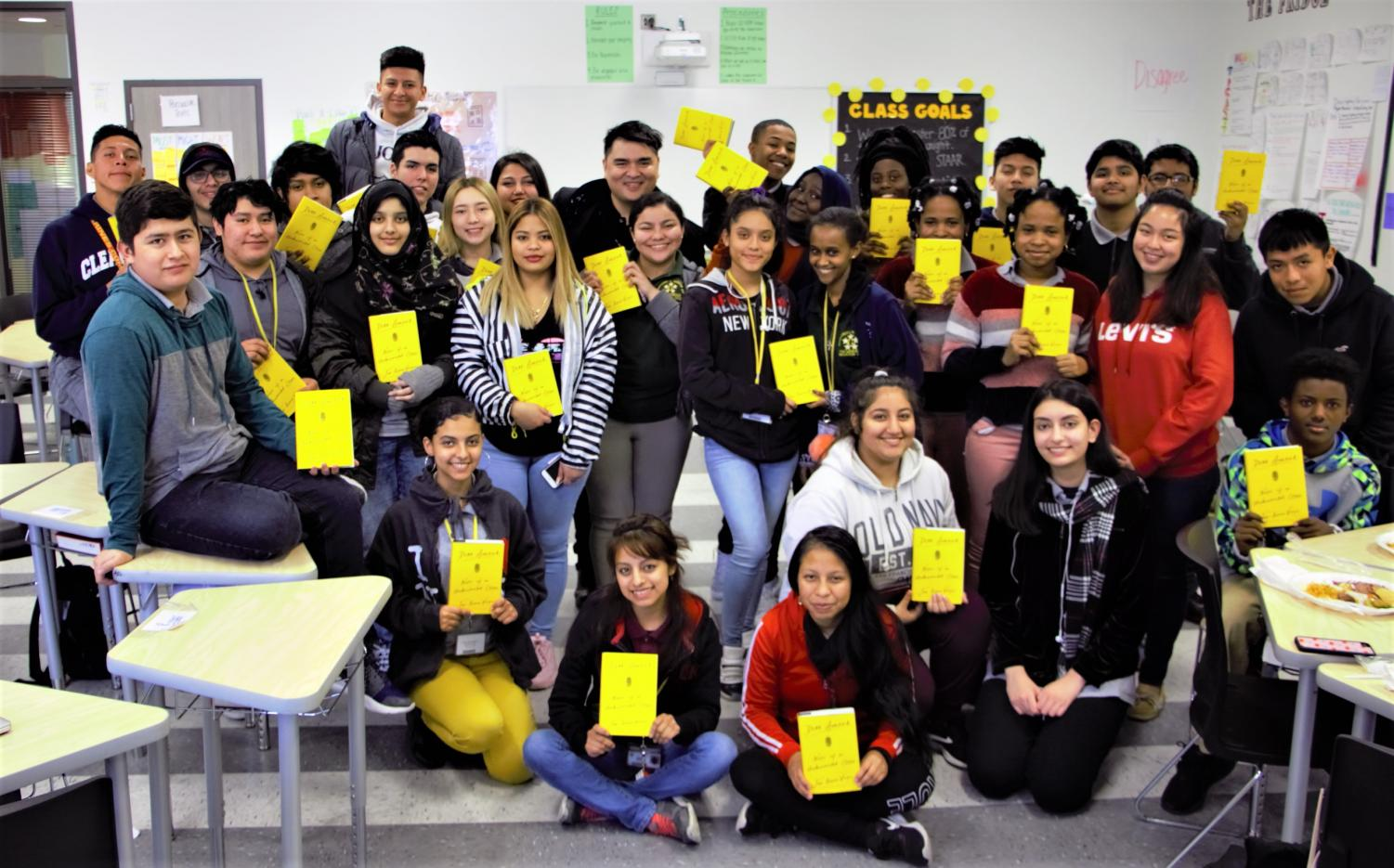 Vargas answered questions about his book with an AP English class at Wisdom HS; Tuesday, March 5, 2019