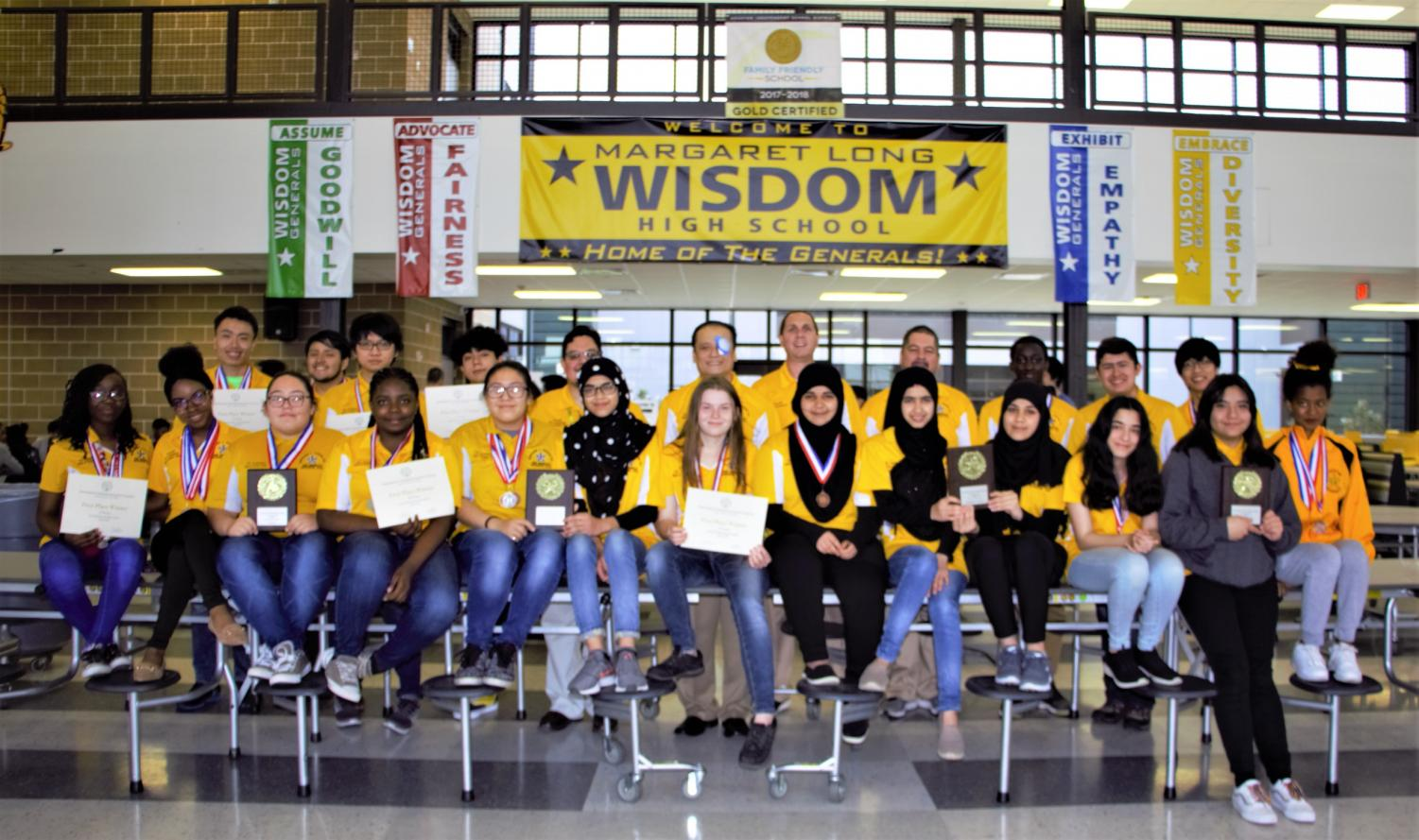 The 2019 Wisdom Generals UIL Academic Team - District 23-5A Overall Champions