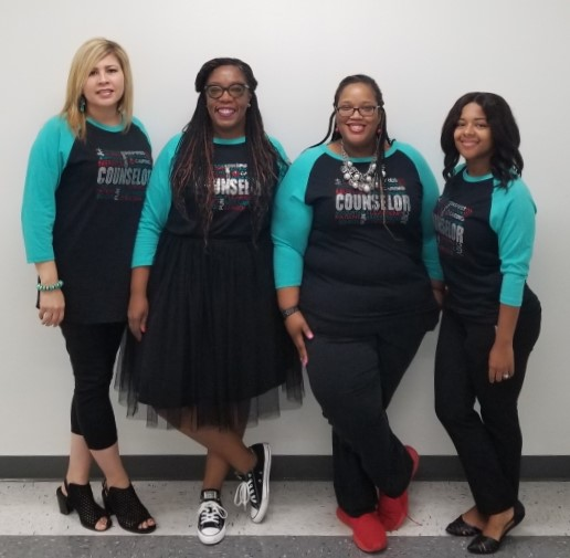 Names from left to right  Ms. Jasek, Ms. Maddox, Ms. Savoy, Ms. Campbell