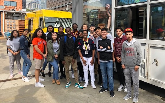 CTE Students Learn Business Operations at HEB & Local Food Truck Yard