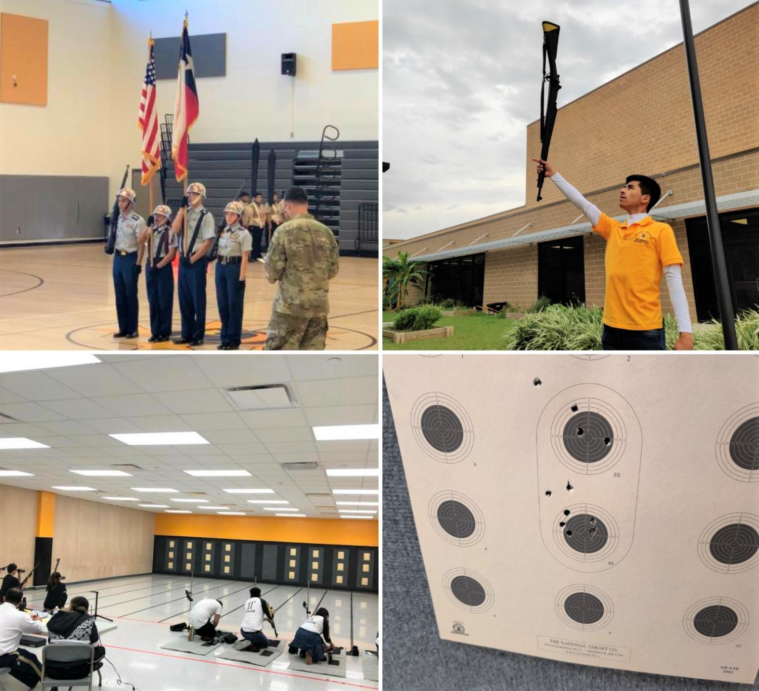 Wisdom JROTC students operate drills and practice marksmanship in the gun range