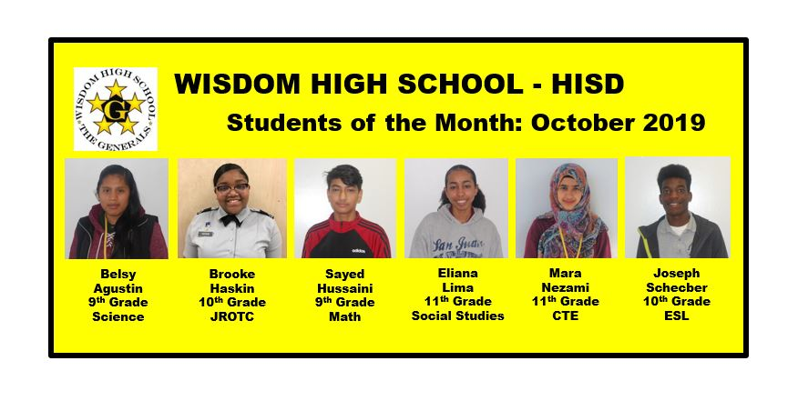 Our Students of the Month: October 2019