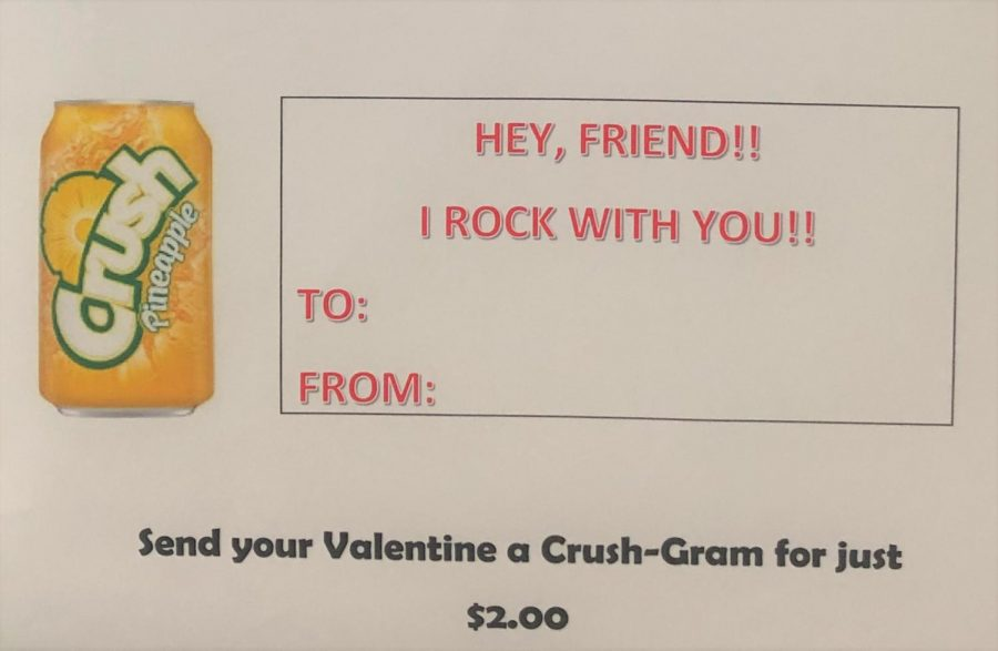 Senior Class Fundraiser: CRUSH Soda for V-Day